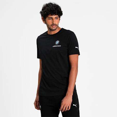 BMW M Motorsport Essentials Small Logo Men's  T-shirt, Puma Black, small-IND