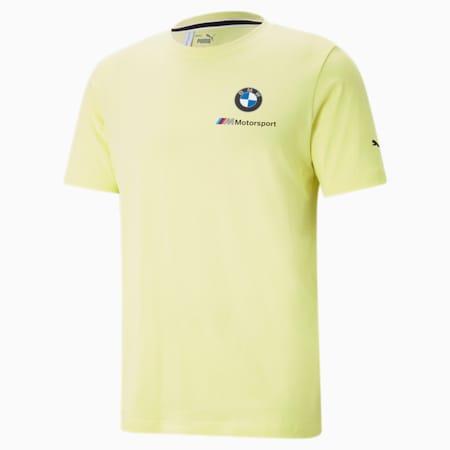 BMW M Motorsport Essentials Small Logo Men's  T-shirt, SOFT FLUO YELLOW, small-IND