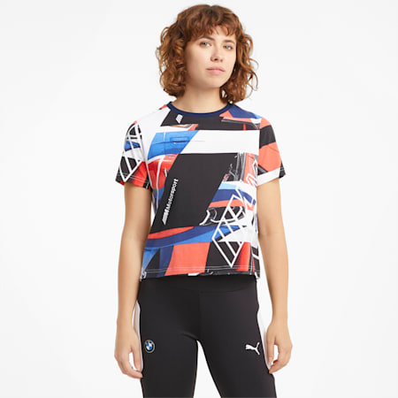 BMW M Motorsport Women's Street  Relaxed T-Shirt, M Colors, small-IND