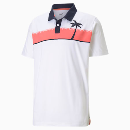 CLOUDSPUN Hana golfpoloshirt heren, Bright White, small