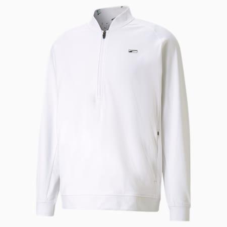 클라우드 스판 무빙 데이 1/4 집업 긴팔 티셔츠/Cloudspun Moving Day 1/4 Zip, Bright White, small-KOR