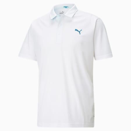 테크 피케 팔메토 폴로/Tech Pique Palmetto Polo, Bright White, small-KOR