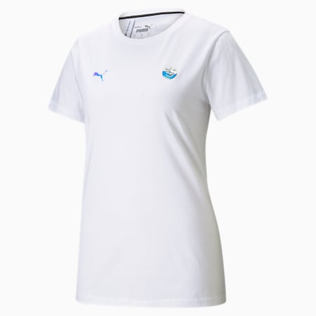 Damski T-shirt z logo BMW M Motorsport, Puma White, small