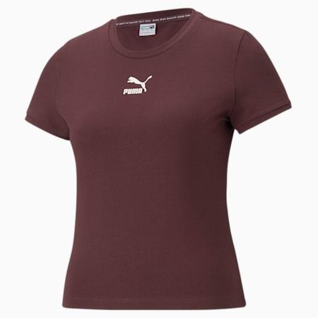 Classics strak T-shirt dames, Fudge, small