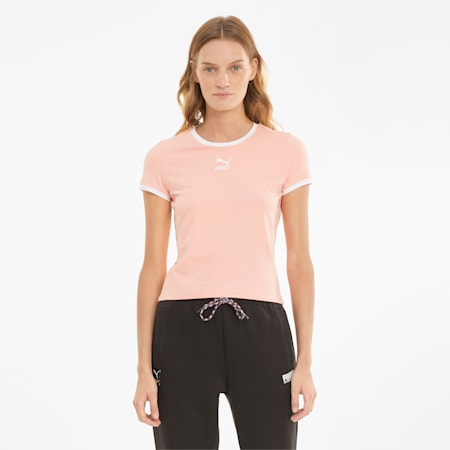 Classics Fitted Women's Tee, Apricot Blush, small-SEA