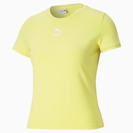 Classics Fitted Slim Fit Women's T-shirt, Celandine, small-IND