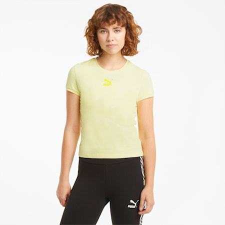 Camiseta ajustada Classics para mujer, Yellow Pear, small