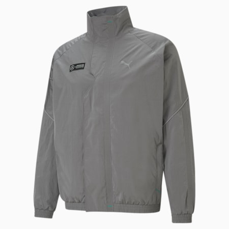 Mercedes F1 Street Woven Men's Jacket, Puma Black, small-GBR