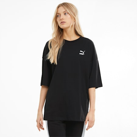 Classics Damen Lockeres T-Shirt, Puma Black, small