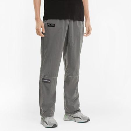Mercedes F1 Street Woven Men's Pants, Puma Black, small-GBR