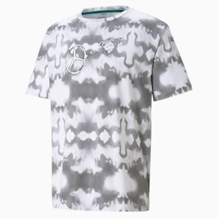 Mercedes Street Graphic Men's  T-shirt, Puma White, small-IND