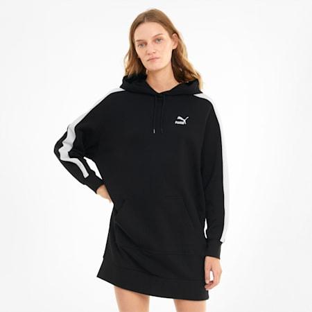 Iconic Damen Kapuzenkleid, Puma Black, small