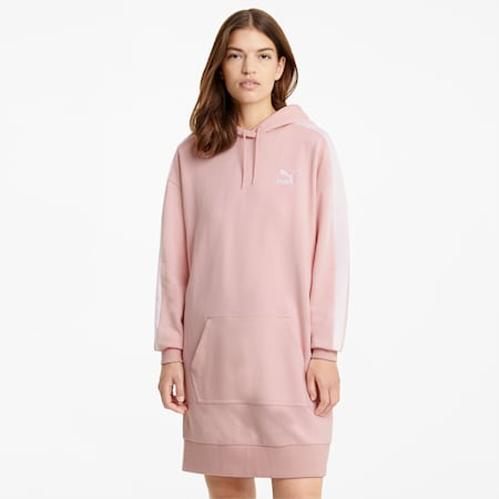 Iconic Hooded Women's Dress, Peachskin, small