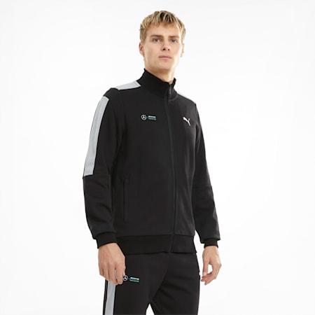 Mercedes F1 T7 Sweat Men's Jacket, Puma Black, small-GBR