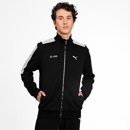 Mercedes F1 T7 Sweat Men's Jacket, Puma Black, small-IND