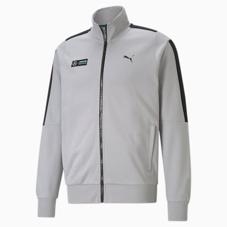 Mercedes F1 T7 Sweat Men's Jacket, Mercedes Team Silver, small