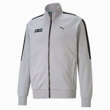 Mercedes F1 T7 Sweat Men's Jacket, Mercedes Team Silver, small-GBR