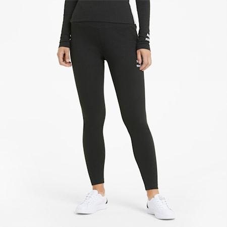 Classics High Waist Ribbed Women's Leggings, Puma Black, small-GBR