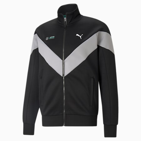 Mercedes F1 MCS Men's Track Jacket, Puma Black, small-GBR
