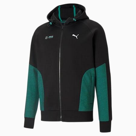 Mercedes-AMG Petronas F1 Men's Hooded Sweat Jacket, Puma Black, small-GBR