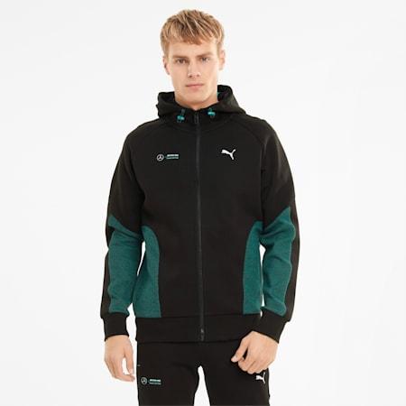Mercedes-AMG Petronas F1 Men's Hooded Sweat Jacket, Puma Black, small