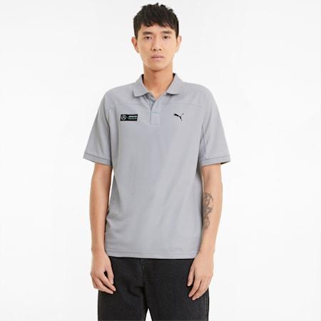Mercedes F1 Men's Polo Shirt, Mercedes Team Silver, small