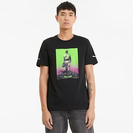 Męski T-shirt Mercedes F1 Graphic, Puma Black, small