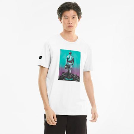 Mercedes F1 Graphic Herren T-Shirt, Puma White, small