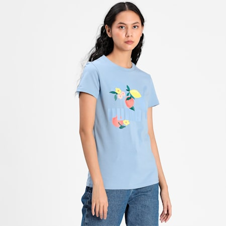CG Graphic Women's Tee, Forever Blue, small-IND