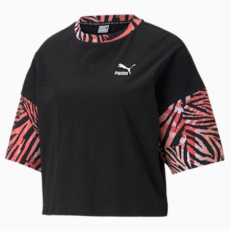 CG Boyfriend Printed Women's Relaxed T-shirt, Puma Black, small-IND