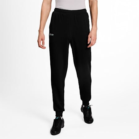 Mercedes F1 Essentials Men's Sweatpants, Puma Black, small-IND