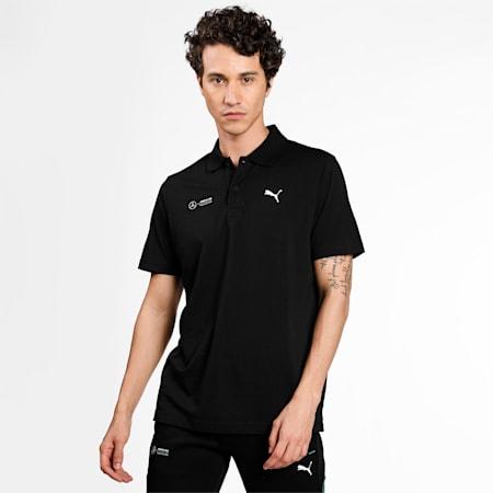 Mercedes F1 Essentials Men's Polo Shirt, Puma Black, small-IND