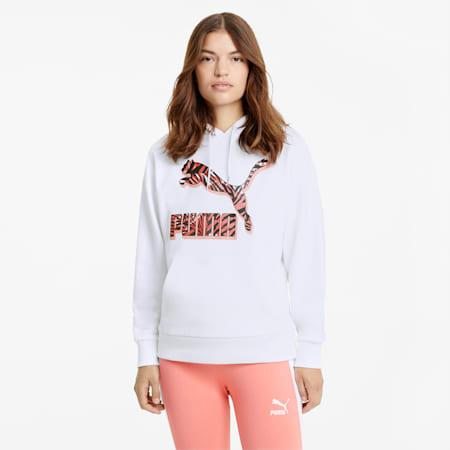 CG Women's Hoodie, Puma White, small
