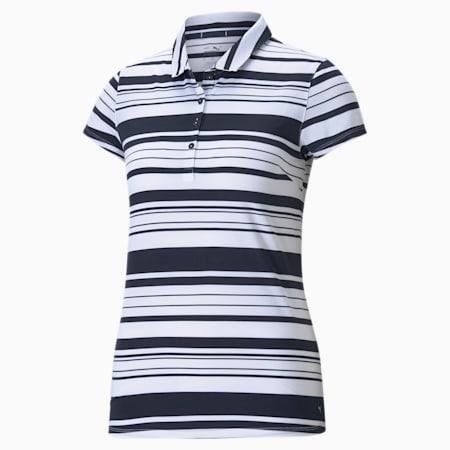 골프 폴로 티/W Cloudspun Ribbon Polo, Navy Blazer-Bright White, small-KOR