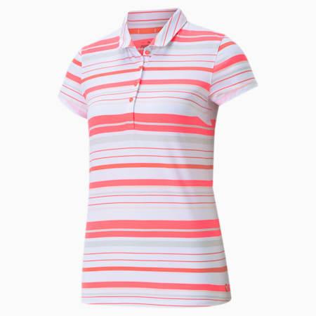 골프 폴로 티/W Cloudspun Ribbon Polo, Cloud Pink-Scuba Blue, small-KOR