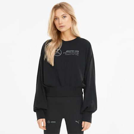 T-shirt à manches longues Mercedes F1 Logo femme, Puma Black, small