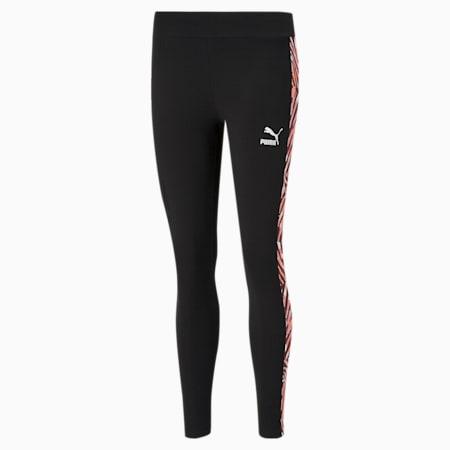 CG Printed Women's Leggings, Puma Black, small-IND