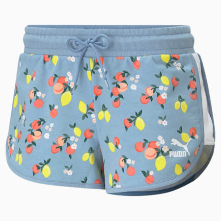 CG Printed Women's Relaxed Shorts, Forever Blue, small-IND