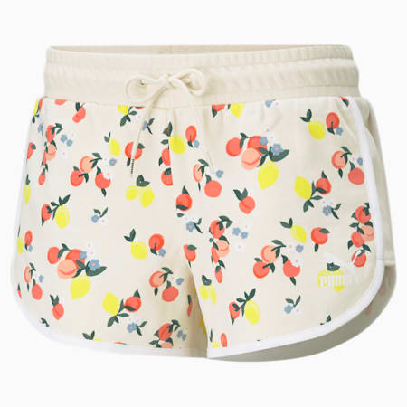 CG Printed Women's Relaxed Shorts, Eggnog, small-IND