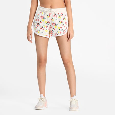CG Printed Women's Shorts, Eggnog, small-IND