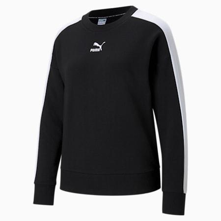 Iconic T7 Crew Neck Women's Sweatshirt, Puma Black, small-GBR