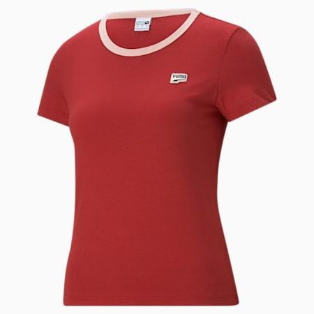 T-shirt à petit logo Downtown, femme, Beauté américaine, petit