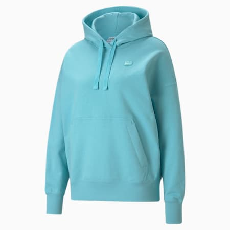 Downtown Women's Hoodie, Angel Blue, small