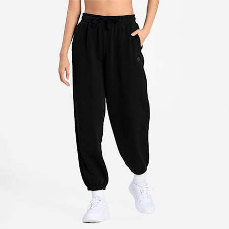 Downtown Women's RelaxedSweatPants, Puma Black, small-IND