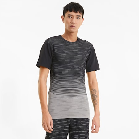 T-shirt Porsche Design evoKNIT uomo, Glacier Gray, small