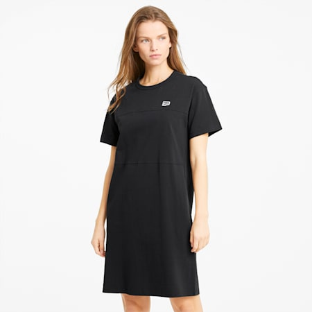 Downtown Damen T-Shirt-Kleid, Puma Black, small