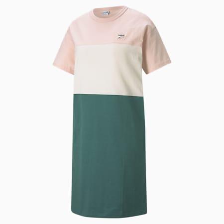 Downtown Women's Tee Dress, Cloud Pink, small