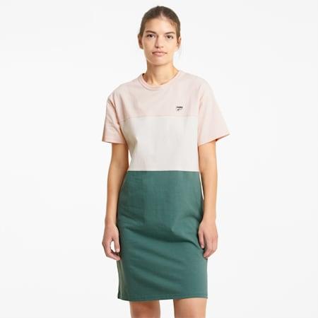Downtown T-shirtjurk dames, Cloud Pink, small