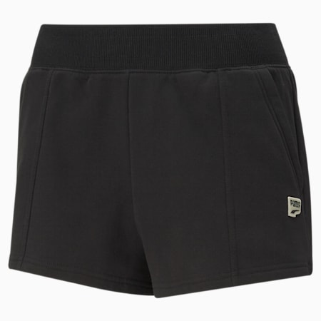 Downtown Women's Shorts, Puma Black, small-SEA
