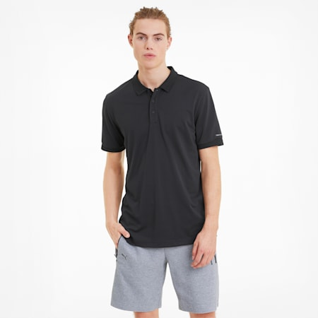 Porsche Design Men's Polo Shirt, Jet Black, small